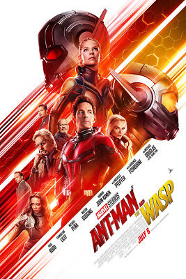 """Ant Man And The Wasp Poster 36x24"""" 2018 Movie Paul Rudd AntMan Print Silk"""