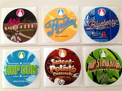 Funky buddha brewery beer tap handle stickers hop stimulator floridian lot of 6