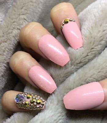 Ombre Coffin Nails Gold Shimmer Wwwpicturessocom