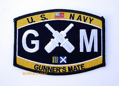 Us Navy Gunner's Mate Gm Rating Hat Patch Uss Pin Up Usn Enlisted Chief Gift Wow