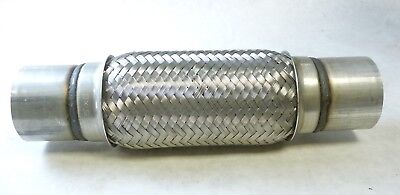 """OBX Racing Stainless Exhaust Flexible Bellow Coupling Joint Pipe 1.75/"""" x 4/"""" x 8/"""""""