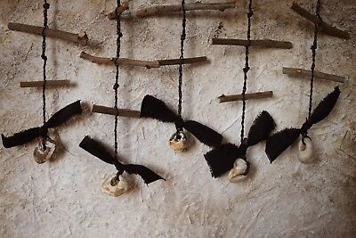 Traditional Witches' Ladder Charm / Garland - Hawthorn Wood (Home Protection)