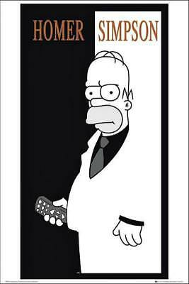 The Simpson : Homer Scarface - Maxi Poster 61cm x 91.5cm new and sealed