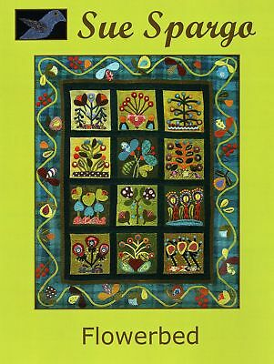 Sue Spargo's Flowerbed Pattern Book Appliqued and Embroidered Wallhanging