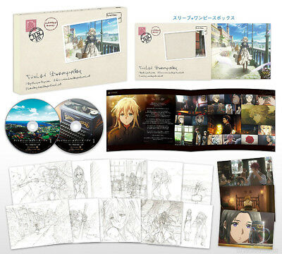 EMS/DHL Violet Evergarden Vol.1 First Limited Edition Blu-ray Booklet Post Card
