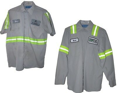 Cintas High Visibility HV Reflective Shirts Short and Long Sleeve Pick Your Size