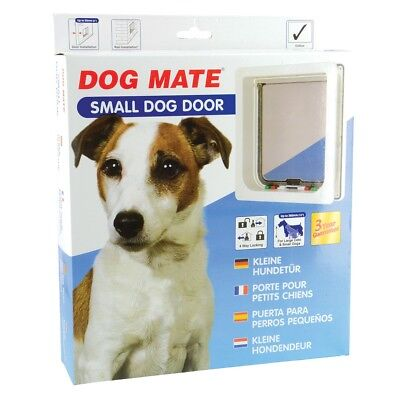 Dog Mate Small Dog or Cat Pet Door White