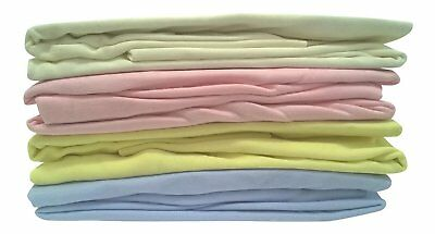 2 Pack Cotton Fitted Crib Sheets 40 cm x 94 cm White