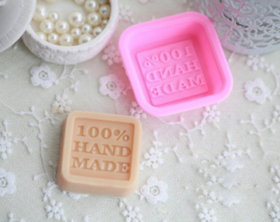 100% Hand Made Silicon Soap Mould Makes 50g Bar 55mm x 55mm x 20mm - UK Supplier