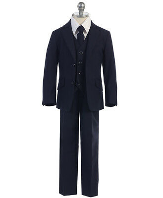 Boys NAVY Suit SLIM FIT TODDLER TEEN Outfit, COMMUNION WEDDING PARTY (SIZE 5-12)