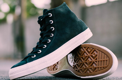a91294f71ac5 Men s Converse Chuck Taylor All-Star Nubuck Hi-Tops Leather Suede Sneakers  Black