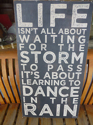 black & white Sign wall art on timber Retro quote about life by Splosh Avalon