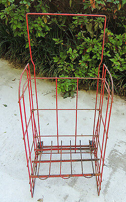 Vintage Rolling Metal Wire Store Display Soda/Soft Drink