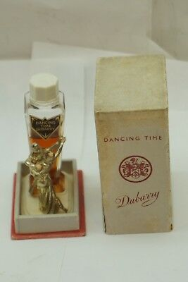 Antique Perfume Dancing Time Dubarry Glass Bottle Presentation Box 2/3 Full 1938