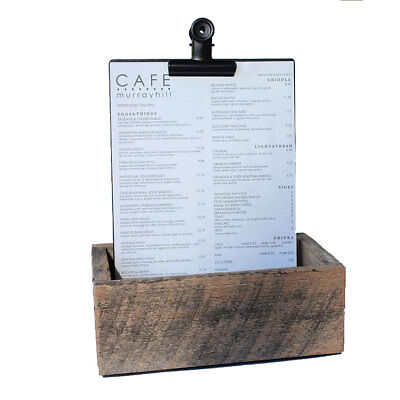 Cutlery Box  + 4 X A4 Black Menu Board Black Bulldog Clip