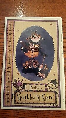 """BEEATRICE~Sparkles 'n Spirt 19"""" whimsical BEE cloth art doll pattern 2000"""