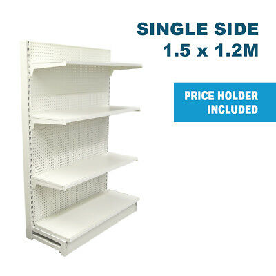 1.5m H x 1.2m W Single Sided Gondola Shelving For Retail Supermarket Shop