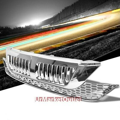 Chrome Vertical Style Replacement Grille For Honda 07-09 CR-V 2.4L DOHC RE3/RE4
