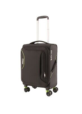 American Tourister Applite 3.0 55cm Carry On Spinner Suitcase Black/Green