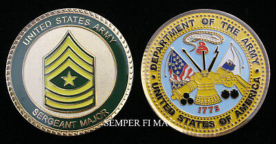 Sergeant Major Us Army Usa Sgm Challenge Coin E-9 Pin Up Promotion Gift Wow!