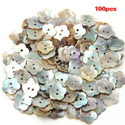 100x15mm Pearl Buttons Mother of Pearl Shell Flower Button E6G7 B3