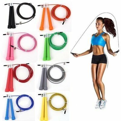 Adjustable Speed Wire Skipping Jump Rope Fitness Sport Exercise Cardio Crossfit
