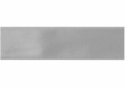 Trimits Silver Double Sided Satin Ribbon Cut Lengths 3mm 6mm 10mm 15mm 25mm 36mm
