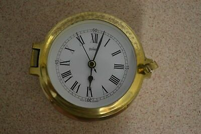 Brass Ships Clock for parts or repair 5 inch Stock Burger Germany