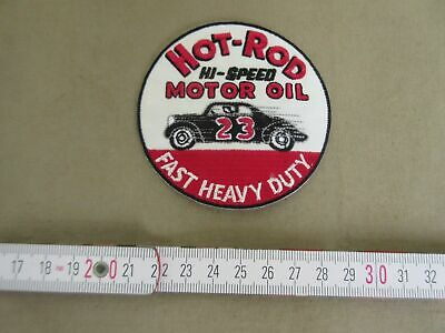 Patch Hot Rod Motor Oil Fast Heavy Duty Nose Art Rockabilly V8 US Car Oldtimer