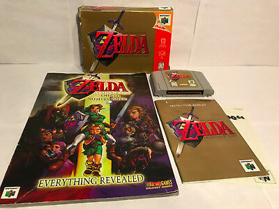 Legend of Zelda: Ocarina of Time (N64) CIB with Box, Manual, & Strategy Guide!