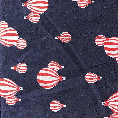 Hot Air Balloon FABRIC vintage retro material 1960s 1970s textile
