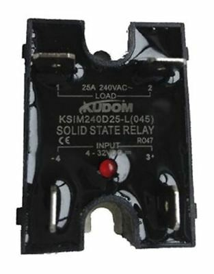 Kudom 25 A Solid State Relay, Zero Cross, Panel Mount Triac, 280 V ac Maximum Lo