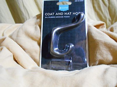 Oil Rubbed Bronze Finish Coat and Hat Hooks / Home Decor