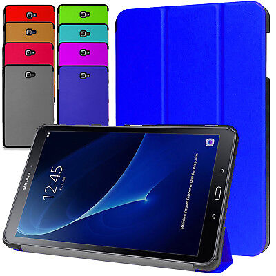 "Leather Smart Stand Case Cover For Samsung Galaxy Tab A6/4 10.1"" Inch T580/T530"