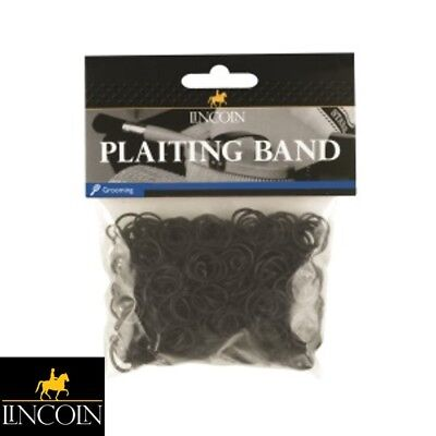 LINCOLN PLAITING BANDS – BLACK – Horse/Pony, Mane, Tail, Showing – FREE P&P