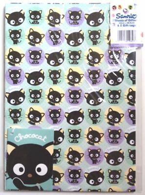 "Official Licensed ""CHOCOCAT"" Gift Wrap Sheets And Tags x 2"