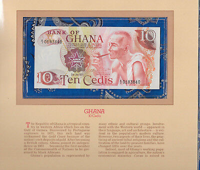 Most Treasured Banknotes Ghana 1978 10 Cedis P16f AUNC Prefix E/2