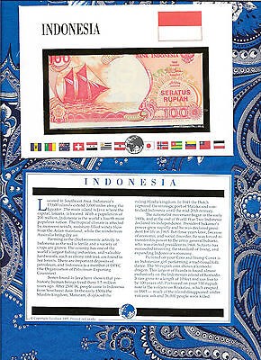 E Banknotes of All Nations Indonesia 1992 100 Rupiah P127a UNC