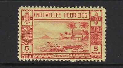 New Hebrides Fr. SGF63 5f red/yellow - lightly mounted mint £75