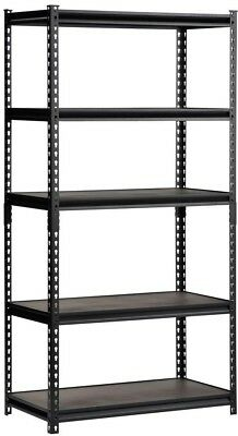 Perfect Look 72 Inch x 36 Inch Easy Storage Shelving Rack Steel Adjustable Black