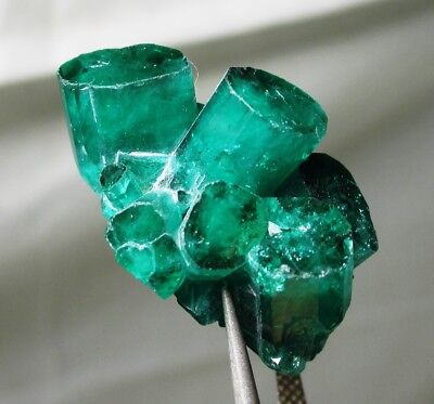 16.8 ct Chatham emerald cluster - lab grown actual emerald cluster