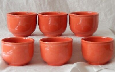 Homer Laughlin Fiesta Contemporary Chili Bowl Set Of 6 Pre-loved 16 OZ Persimmon
