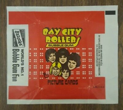 (1) 1975 Topps Bay City Rollers Empty Wrapper 0-413-21-01-5