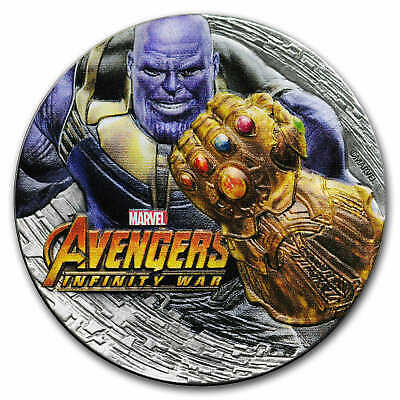 2018 Fiji 2 oz Silver Avengers Infinity War THANOS (Antiqued) - SKU#168067