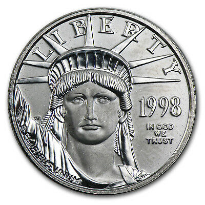 1998 1/4 oz Platinum American Eagle BU - SKU #50375