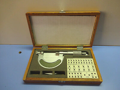 """Mitutoyo Pana-Micrometer #116-106 Thread Pitch Mic Interchangeable Anvil 1-2"""""""