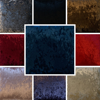 Crushed Velvet Fabric Upholstery Material High Quality Craft Cushion FR BS7177