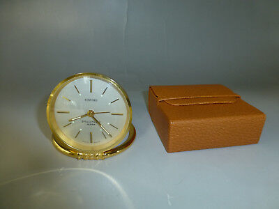 Vintage Swiss Mechanical 15 Jewel Windup Alarm Desk Watch/Clock (See Video)