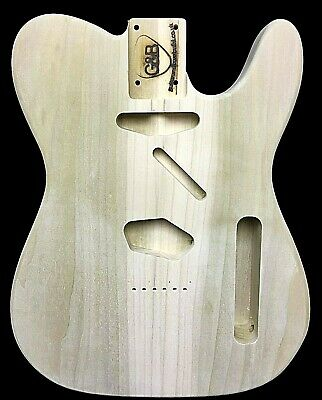 Telecaster Guitar Body / Poplar /2pc/2.2kg/3974