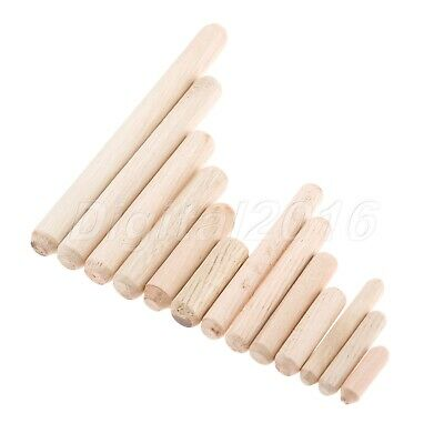 Round Fluted Wood Dowels Pins Furniture Grooved Glue Wooden Rods M6 M8 M10 1 set